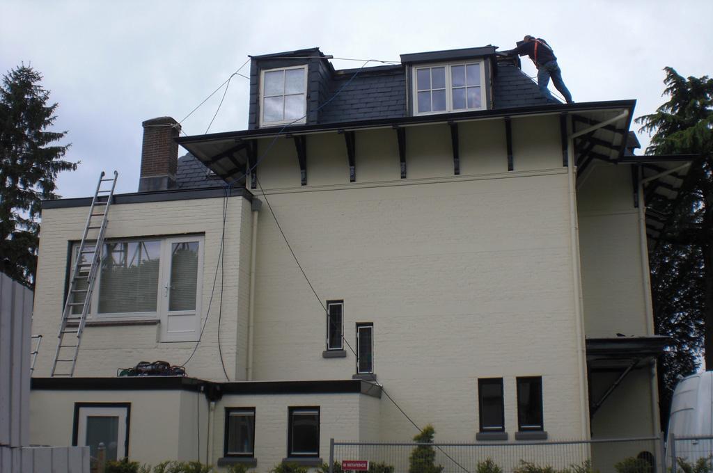 Een leien dak van EPDM leitjes