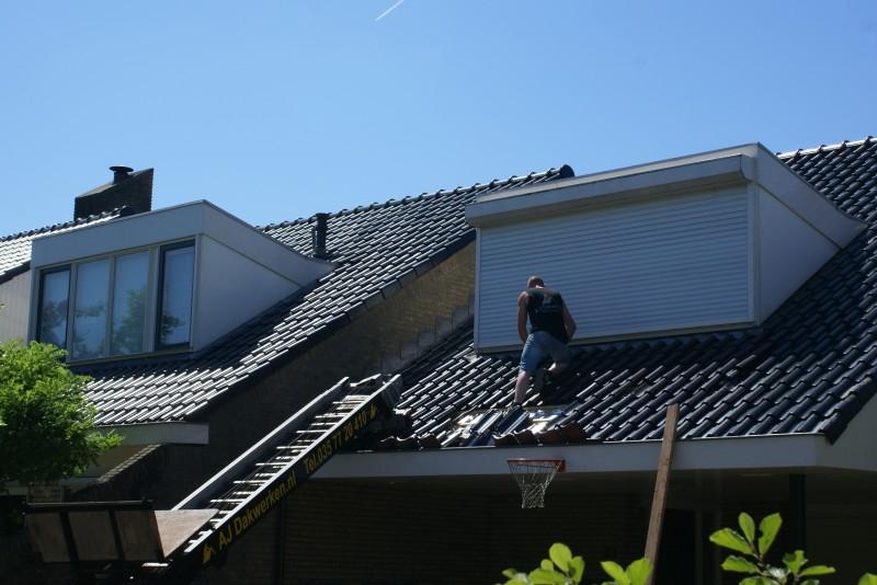 Donkere dakpannen bij villa in Sleewijk