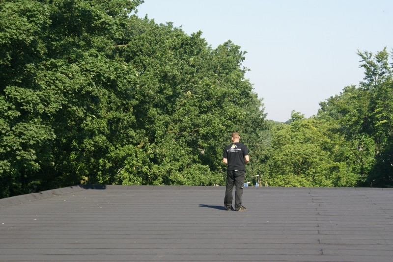 Bitumen dakbedekking voor plat dak