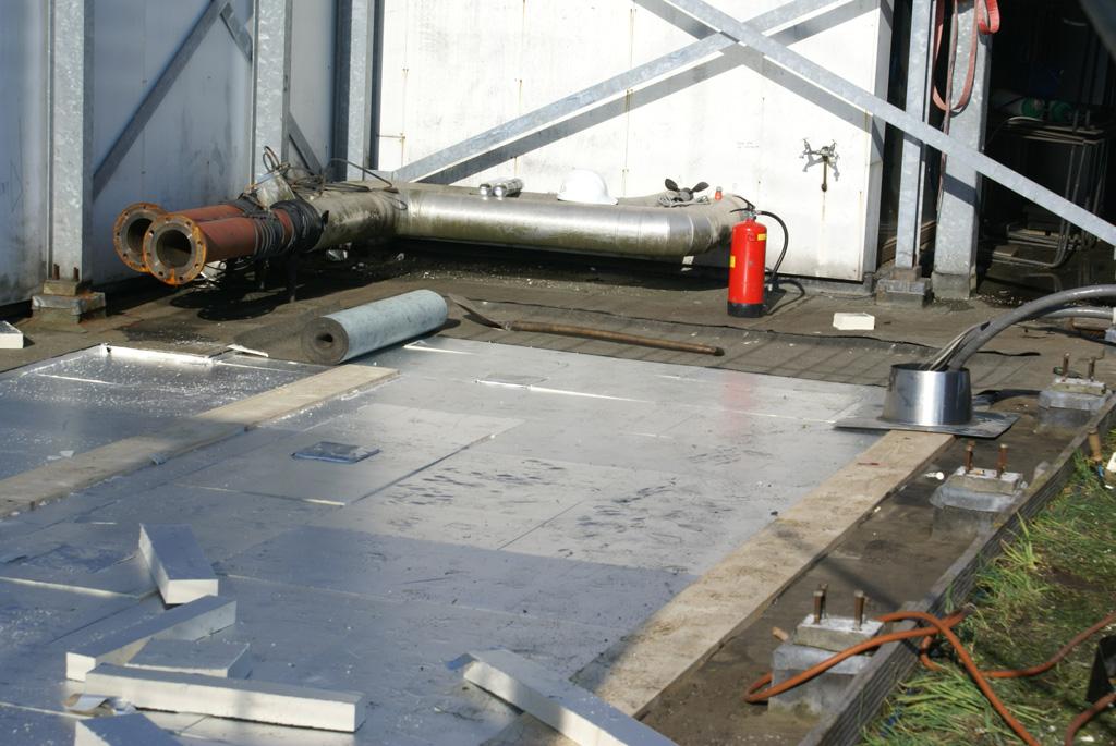 Supersnelle bitumen dakbedekking VPRO gebouw