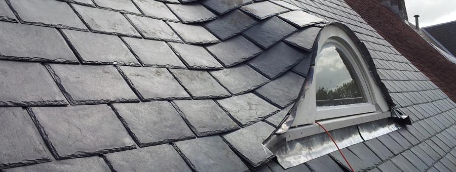 Duurzaam leien dak in Amsterdam